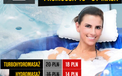 Od poniedziałku 18 maja promocja hydromasaży
