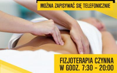 Ruszamy z zabiegami masaży od 18 maja